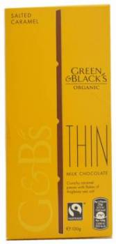 Green & Black's Organic, Organic Thin Milk Chocolate Crunchy Caramel Pieces with Flakes of Anglesey Sea Salt, Netherlands/UK