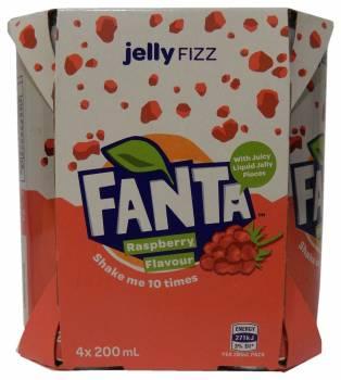 Fanta Jelly Fizz, Raspberry Flavour Soft Drink, Australia