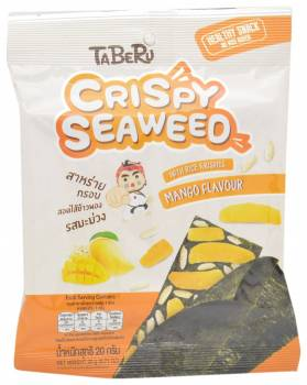 Taberu, Mango Flavored Crispy Seaweed with Rice Krispies, Thailand