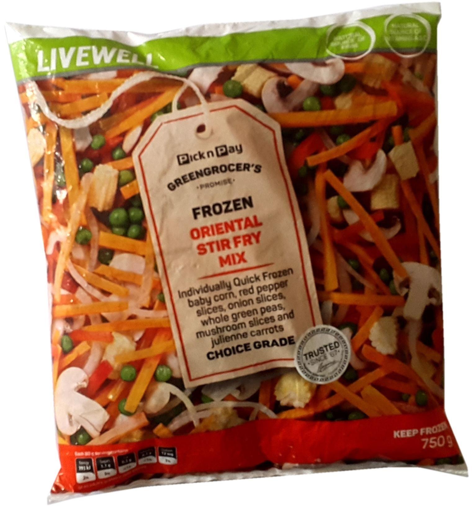 Frozen Oriental Stir Fry Mix